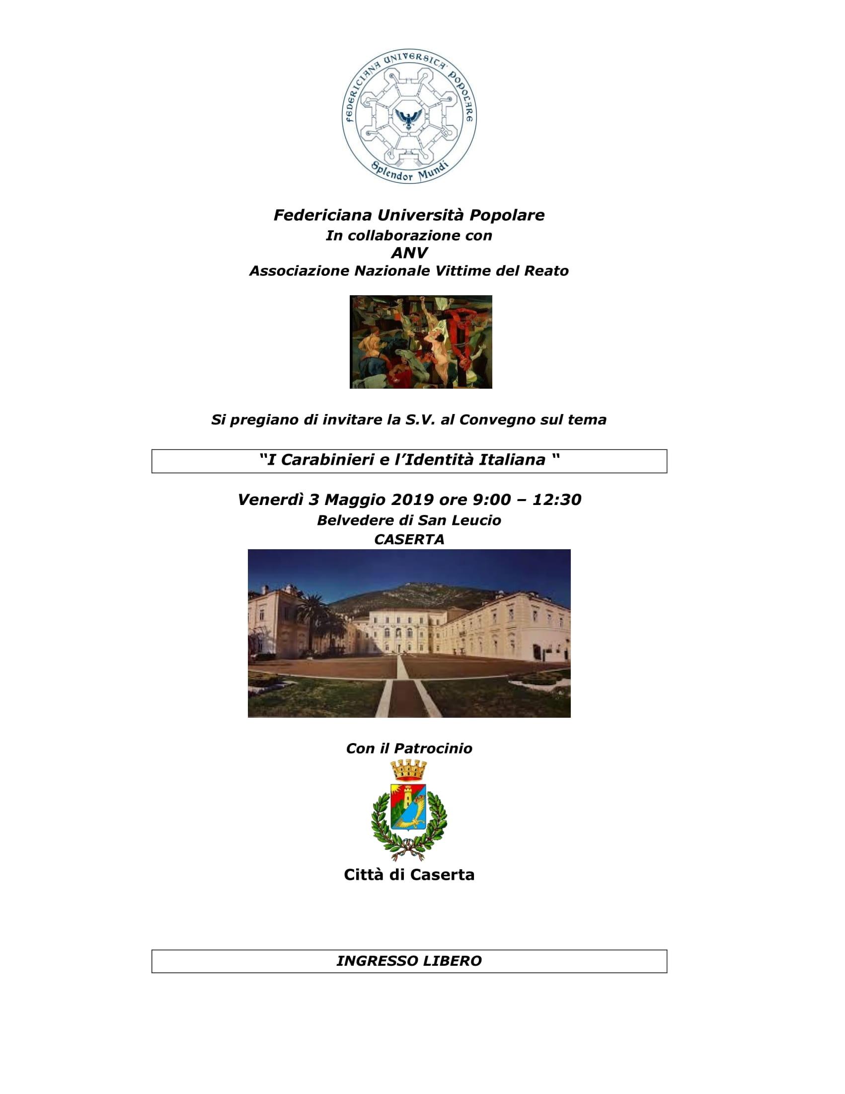 Convegno I Carabinieri e l'Identità Italiana | Caserta 03.05.2019
