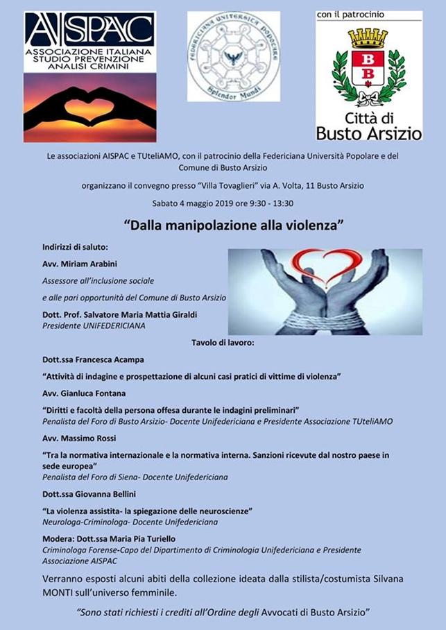 Convegno Dalla Manipolazione alla Violenza | Busto Arsizio 04.05.2019
