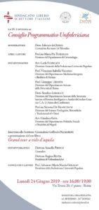 Consiglio programmatico Unifedericiana